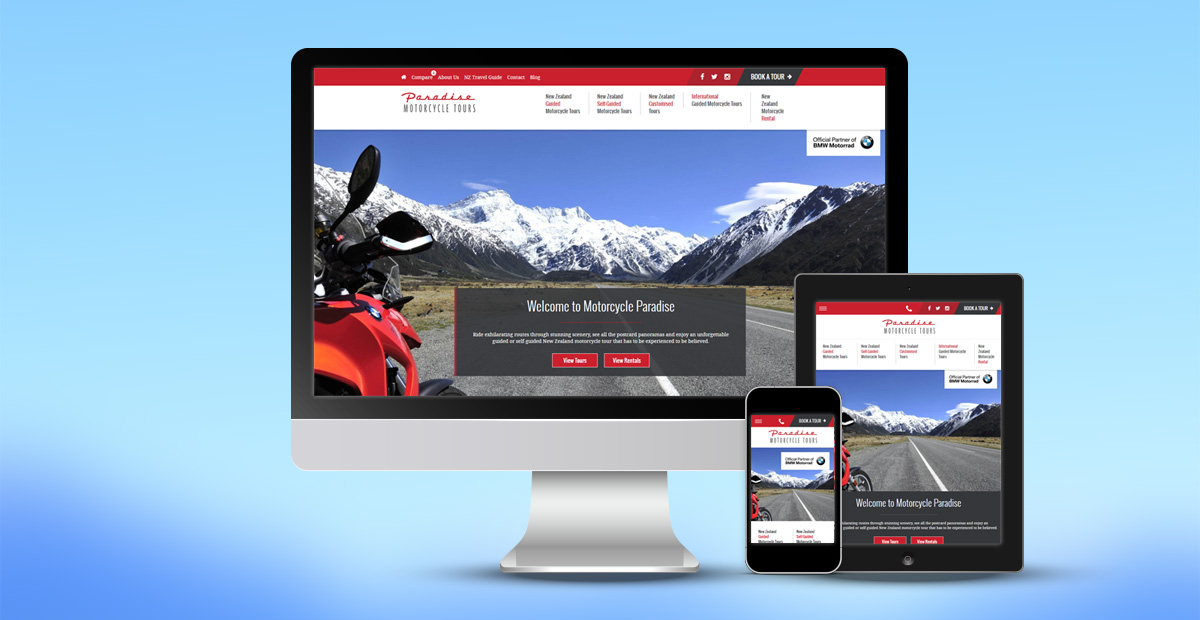 Paradise Motorcycles Website Design